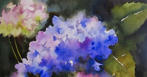 nel s everyday painting triple hydrangeas and a lesson sold nel s everyday painting watercolor hydrangeas sold