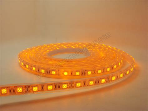 led amber orange color 5050 12w 72w 300leds strip led