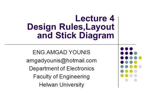 layout design vlsi ppt vlsi design rules layout and stick diagram lecture04