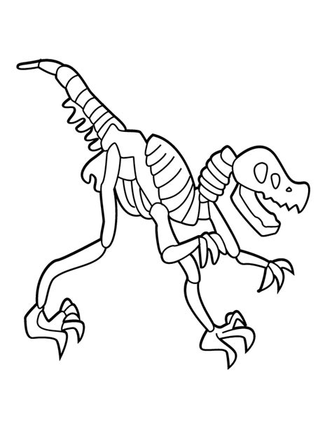 dinosaur skeleton coloring page coloring home