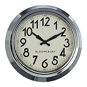 wall clock amazon co uk kitchen home premier housewares bloomsbury wall clock 25 x 8 cm