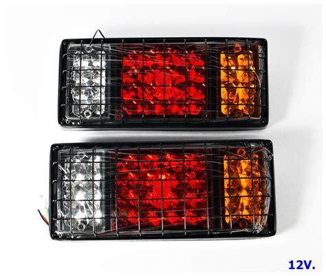 universal led tail lights isuzu elf npr nkr nhr nlr truck rear tail light l