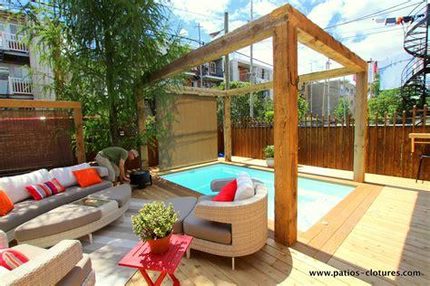 patio piscine patio autour d une piscine creus 233 e paquette 224 montr 233 al