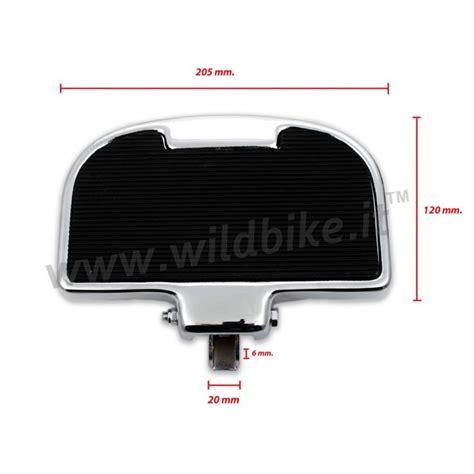 pedane per moto custom pedane passeggero universali comfort rubber style per moto