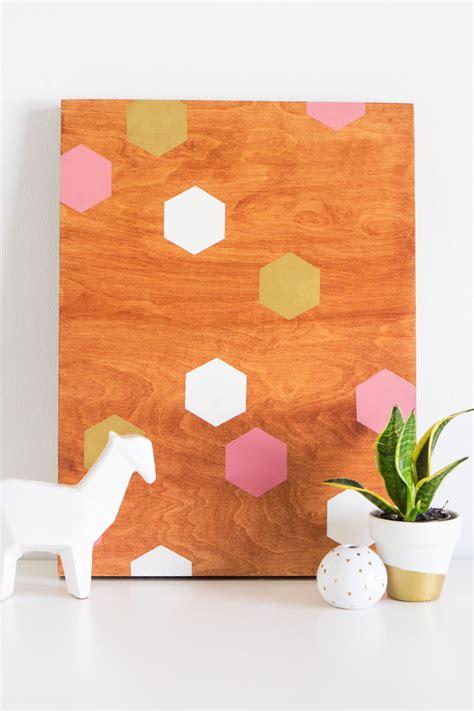hearts diy geometric wood panel wall