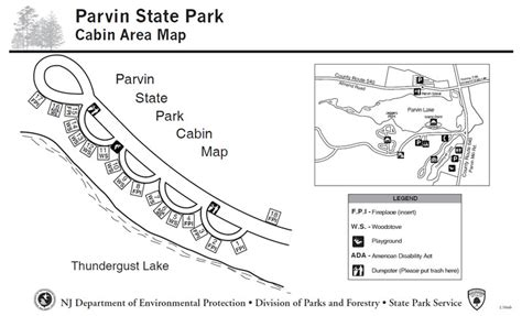 Cabin Park Map by Njdep Parks And Forests