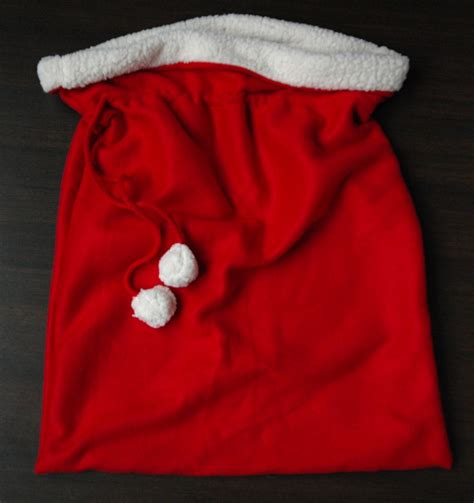 make a santa bag a tutorial crafterhours
