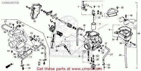 honda fourtrax 250 carburetor diagram honda trx250 fourtrax 250 1985 usa carburetor schematic