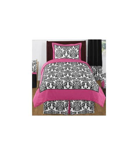hot pink twin comforter sweet jojo designs isabella hot pink black white twin