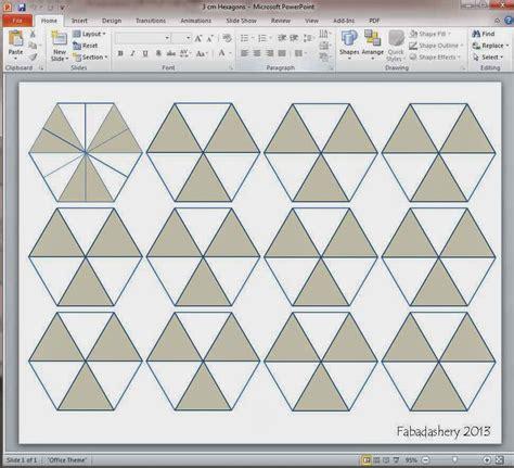 hexagon templates for paper piecing fabadashery mini hexagon mug rug