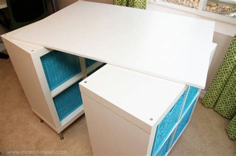 diy craft table ikea make a counter height craft table from 2 shelves a table