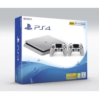 sony console ps4 500 go console sony ps4 500 go argent 2 232 me manette dualshock 4