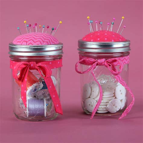 crafts with jars for pin cushion jar craft hometalk
