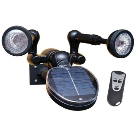 sunforce solar security light with remote 86318 the home