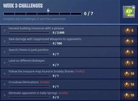 fortnite week 3 challenges fortnite season 3 battle pass challenges week 3 guide