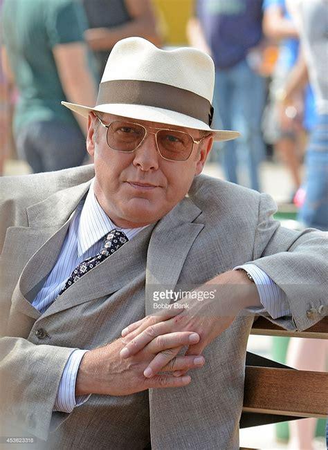 spader bank actor spader on the set of the blacklist on august