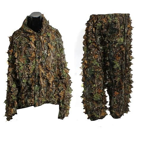 leaf ghillie suit woodland camo camouflage clothing 3d