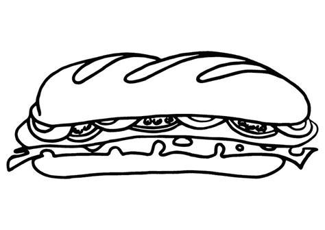 Coloriage Sandwich 224 Imprimer Sur Coloriages Info