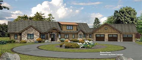 wisconsin house montero ranch log home floor plan from wisconsin log homes