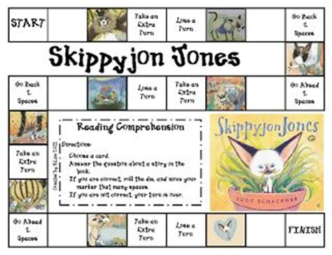 printable reading comprehension board games 17 best images about skippyjon jones party on pinterest