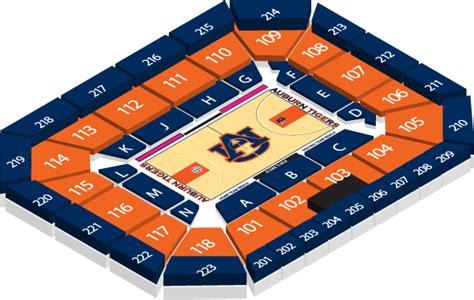 Auburn Ticket Office by Auburn Arena Seating Chart Auburn Arena Seating Chart