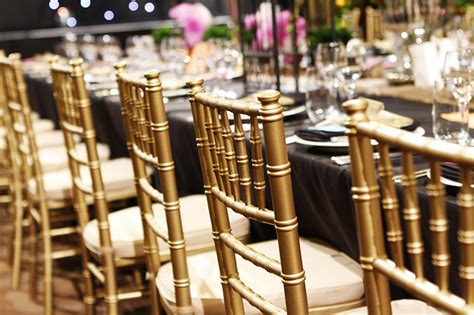 tiffany chairs hire silver gold  black