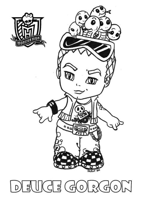 boy doll coloring page monster high baby coloring pages who is the hottest