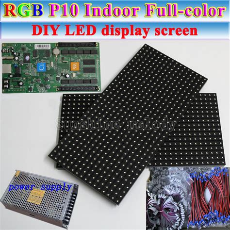 Modul P10 Rgb Smd Color Indoor Promo Gratis Tutorial Interface aliexpress buy diy p10 indoor color led display screen rgb p10 module asynchronous
