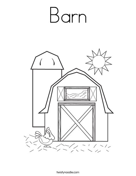 barn template barn coloring page twisty noodle