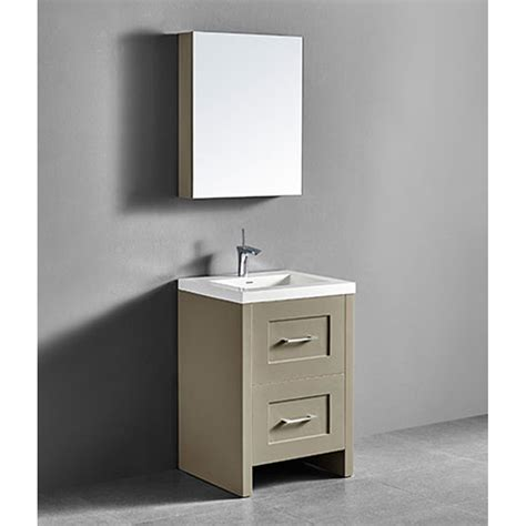 Modern Retro Bathroom by Madeli Retro 24 Quot Bathroom Vanity For Integrated Basin