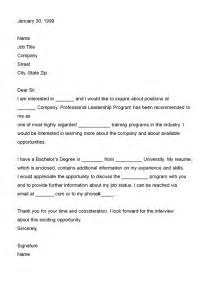 letters of interest sle format business letter