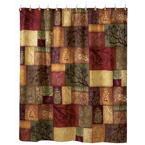 pine cone curtains adirondack pine cone shower curtain