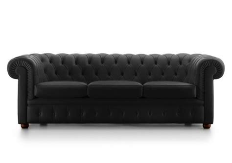 Leather Sofas Outlet by Outlet Chester Sofa In Black Leather Berto Shop