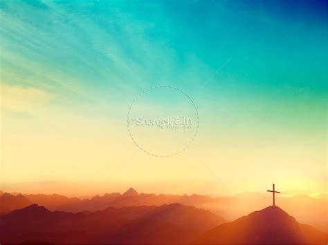 Risen Easter Sunday Church Powerpoint Powerpoint Background Worship