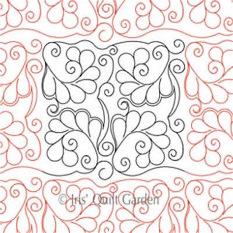 Digital Quilting Designs Free by Curly Feathers Block Or Panto Digital Quilting Designs