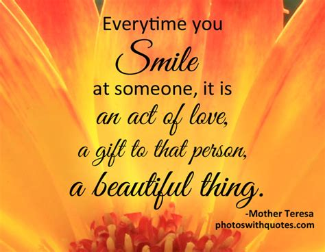 Picture Quote | Everytime you smile at someone...