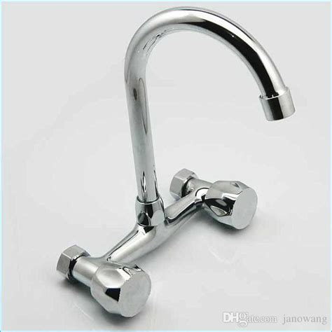 kitchen faucet valve 2018 2018 dual holder wall mount kitchen faucet kitchen brass mixer tap and cold water mixing