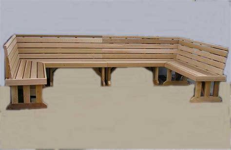 how to make a cedar bench wrap around sectional cedar benches