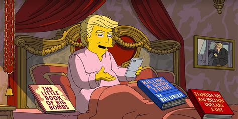 donald trump simpsons video quot the simpsons quot pokes fun at trump s first 100 days
