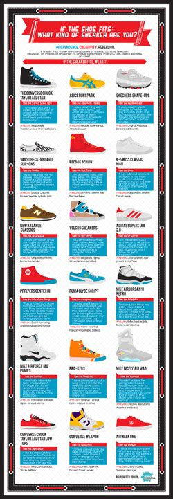 types of athletic shoes what of sneaker are you infographic explains