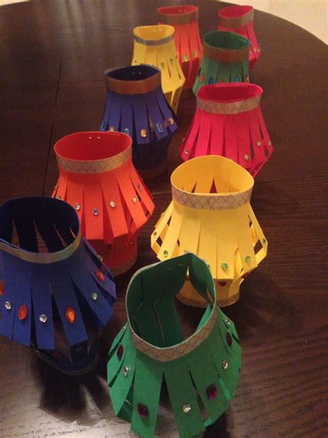 Paper Lanterns Craft Ideas - paper lanterns for diwai craft project with