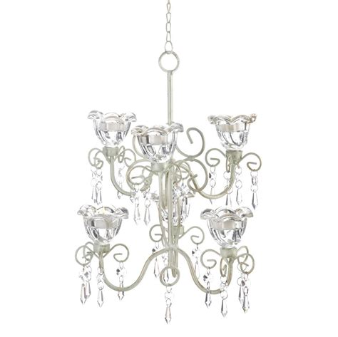 Crystal Flowers Blooms Double Chandelier Candle Holder Chandelier Candle Holder