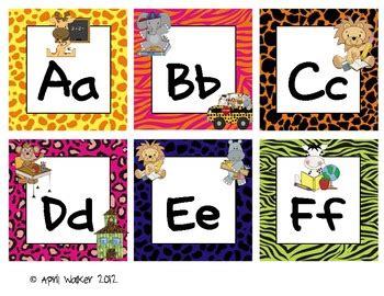 5 Letter Words Jungle word wall letters jungle safari themed by idea backpack