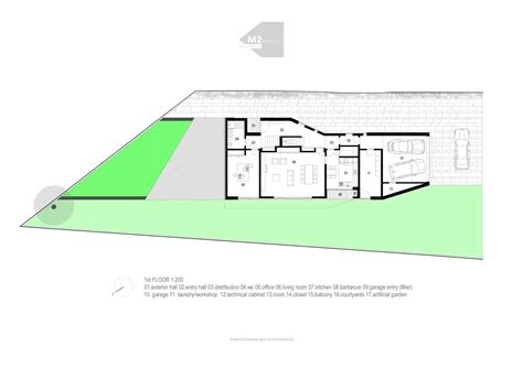 floor plan com gallery of bls house m2 senos 21