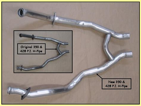 1967 1968 shelby gt 500 mustang 390 gt h pipe 465 each
