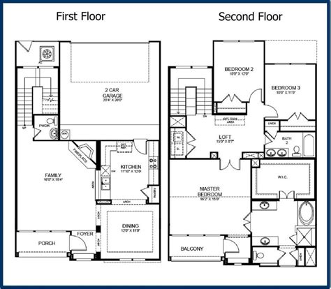 best of 2 story modern house floor plans new home plans