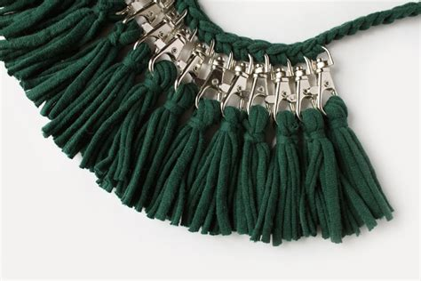 pattern for t shirt necklace t shirt yarn necklace 183 extract from scraps by vera