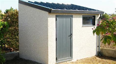 abris de jardin beton abri de jardin en beton 1 pente couverture bac acier 1 porte pleine et 1 chassis