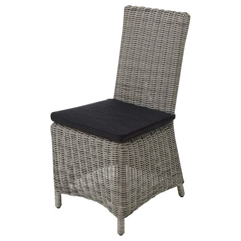 Garden Chair Material by Wicker And Fabric Garden Chair Cushion In Charcoal Grey Cape Town Maisons Du Monde