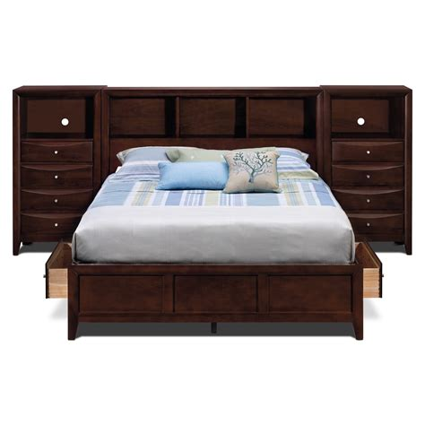 wall bed queen clarion bedroom queen wall bed with piers value city furniture